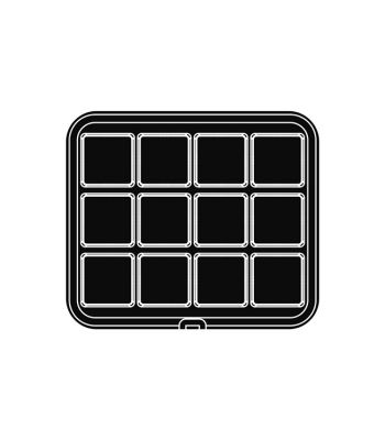 Pavoni Italia | Professional | PIASTRA35 Piastra per tartellatrice Cookmatic a forma di quadrato