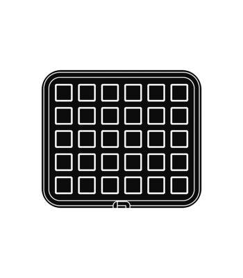 Pavoni Italia | Professional | PIASTRA27 Piastra per tartellatrice Cookmatic quadrata