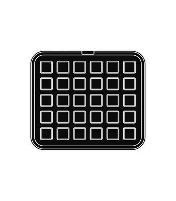 Pavoni Italia | Professional | Piastra per tartellatrice Cookmatic quadrata