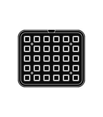 Pavoni Italia | Professional | Piastra per tartellatrice Cookmatic a forma di quadrato liscio