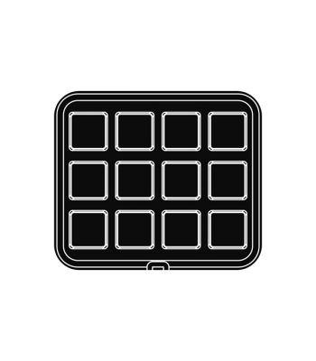 Pavoni Italia | Professional | PIASTRA34 Piastra per tartellatrice Cookmatic quadrata