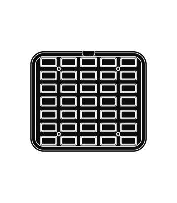 Pavoni Italia | Professional | Piastra per tartellatrice Cookmatic a forma rettangolare