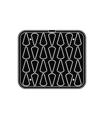 Pavoni Italia | Professional | Piastra per tartellatrice Cookmatic a forma di triangolo piccolo
