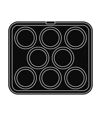 Pavoni Italia | Professional | Piastra per tartellatrice Cookmatic a forma rotonda