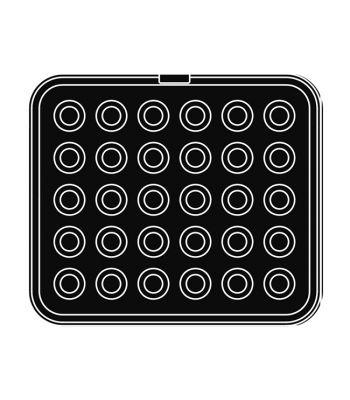Pavoni Italia | Professional | Piastra per tartellatrice Cookmatic per forme rotonde