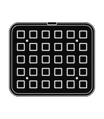 Pavoni Italia | Professional | Piastra per tartellatrice Cookmatic forme quadrate