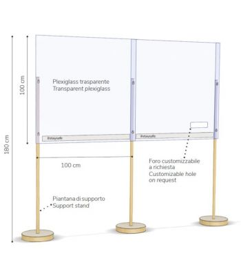 Modulo per barriera da terra 100x100