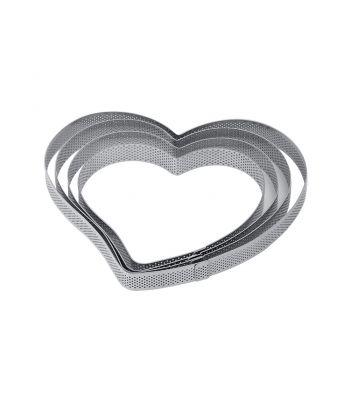 Fascia inox XF25 a forma di cuore microforata