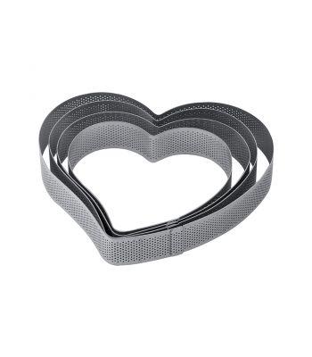 Fascia inox XF30 a forma di cuore microforata