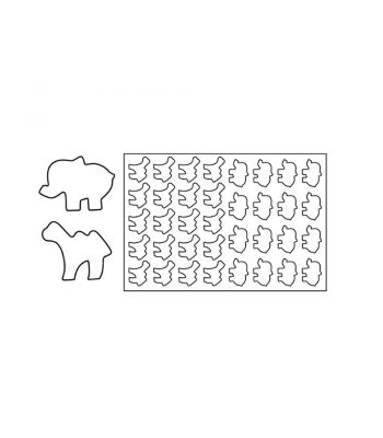 PF14-Placche-Pasta frolla-Elefante e Cammello-Pavoni Italia