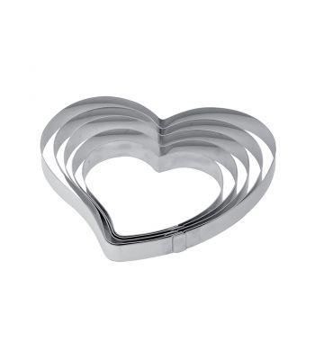Fascia inox a forma di cuore X34