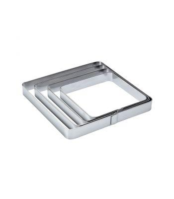 Fascia liscia inox quadrata X05