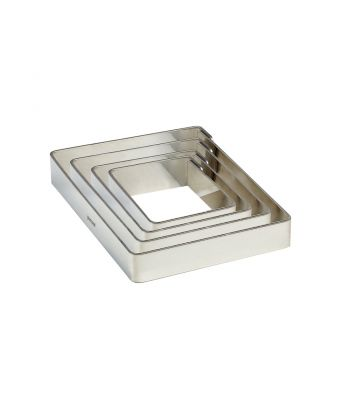 Fascia liscia inox quadrata X161620