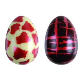 T965-Metallic silkscreened-thermoformed-Easter egg-moulds