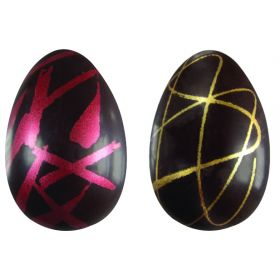 T611-Metallic silkscreened-thermoformed-Easter egg-moulds