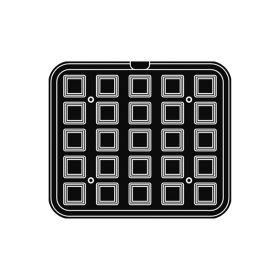 Pavoni Italia   Professional   Cookmatic festooned square shaped plate