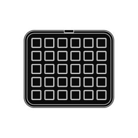 Pavoni Italia | Professional | Cookmatic square shaped plate