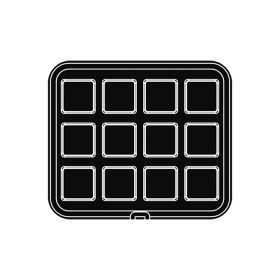 Pavoni Italia   Professional   Cookmatic square shaped plate