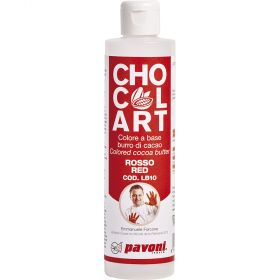 cocoa butter- chocolart-red