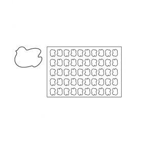 PF11-Dove-plastic-cookies cutting sheets-Pavoni Italia