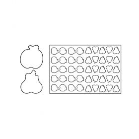 PF15-Apple and pear-plastic-cookies cutting sheets-Pavoni Italia