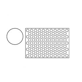PF3A-Round-plastic-cookies cutting sheets-Pavoni Italia