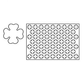 PF5-Fourleaf clover-plastic-cookies cutting sheets-Pavoni Italia