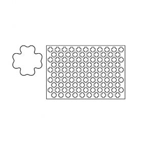 PF5A-Fourleaf clover-plastic-cookies cutting sheets-Pavoni Italia