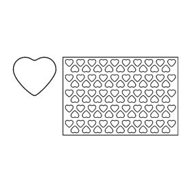 PF6-Heart-plastic-cookies cutting sheets-Pavoni Italia