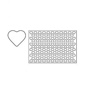 PF6A-Heart-plastic-cookies-cutting sheets-Pavoni Italia