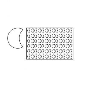 PF7-Half moon-plastic-cookies-cutting sheets-Equipment-Pavoni Italia