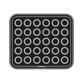 Pavoni Italia | Professional |Cookmatic square shaped plate