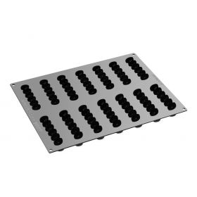 Pavoni Italia Professional Domino PX4373 Silicone moulds for single-serving portions