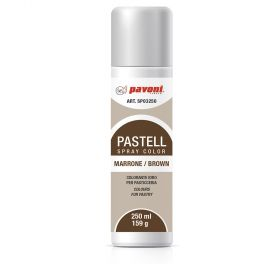 pastel -spray colors - water basis brown