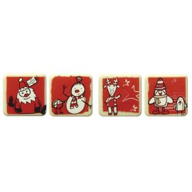 T997-Christmas pictures-silkscreened moulds
